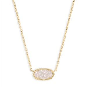 Kendra Scott Elisa Gold Pendant Necklace in Drusy